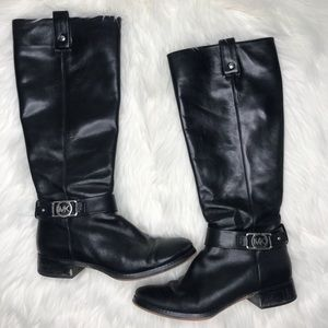 MICHAEL Michael Kors Black Leather Boots